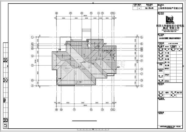 成都某小区512平米两栋双层砖混结构高档单体别墅建筑设计CAD图纸-图二