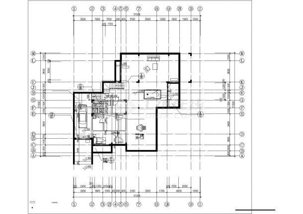 昆山市九阳新村某547平米2层框架结构单体别墅建筑设计CAD图纸-图一