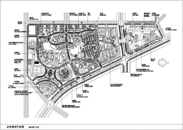 某城市商业、住宅全套景观设计规划cad图纸-图一