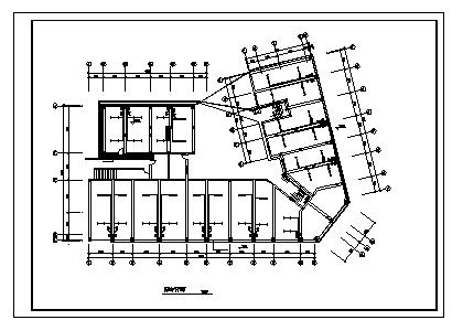 某八层综合楼电气施工cad图(含供电设计)-图二