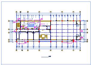 某多层办公楼详细方案CAD建筑施工图-图一