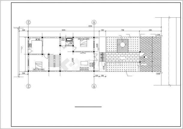 嘉兴市郑家村某3层砖混结构单体乡村别墅建筑设计CAD图纸(含结构图)-图一