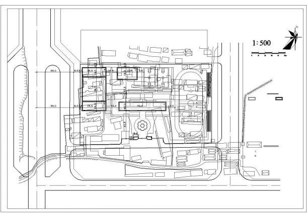 深圳市某大学附属中学校区总平面规划设计CAD图纸(共建筑1万平米)-图二
