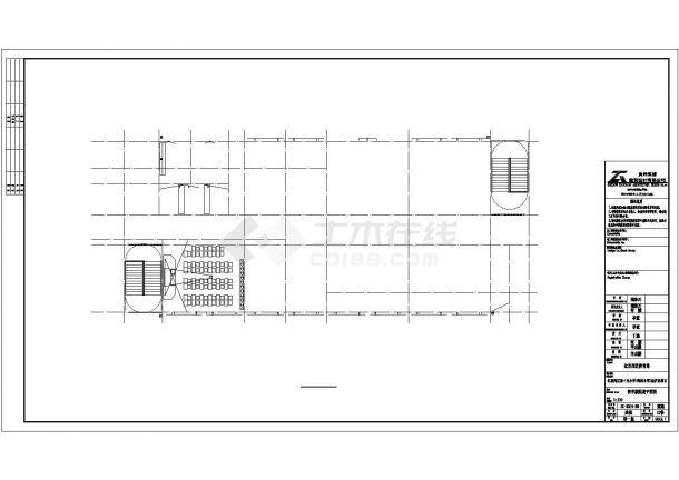 兰州市银河小学4080平米4层框架结构教学楼全套建筑设计CAD图纸-图一