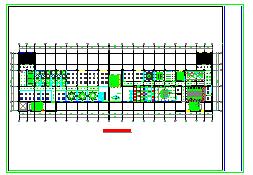 长形会议室cad平立面装修施工设计图纸-图一