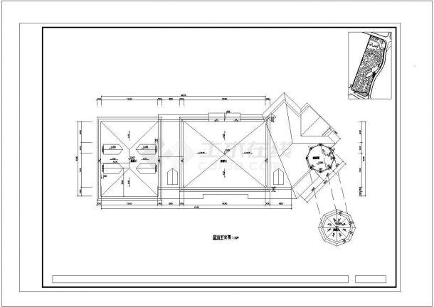 深圳市某艺术幼儿园2000平米3层框架结构教学楼建筑设计CAD图纸-图一