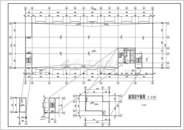 重庆市某中学1.5万平米12层框架结构教学综合楼建筑设计CAD图纸-图一