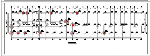 某建筑底层框架cad结构施工设计图-图一