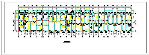 某建筑底层框架cad结构施工设计图-图二