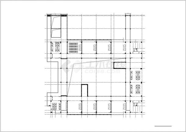 郑州市建设路某私立中学5层框架结构教学楼建筑设计CAD图纸-图一