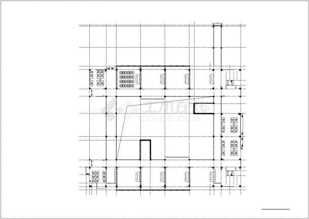 郑州市建设路某私立中学5层框架结构教学楼建筑设计CAD图纸-图二