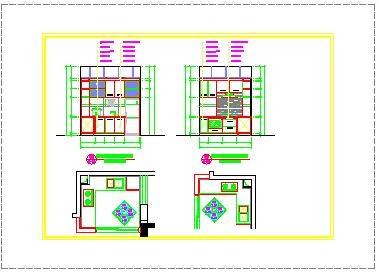 某景观户型室内cad家装施工图-图二