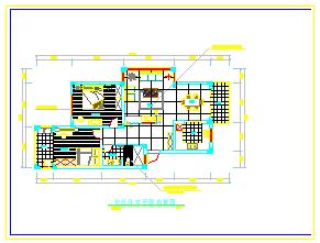 某两室两厅家居cad装修平面设计图-图二
