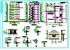 某地六层住宅楼cad建筑施工图纸-图一