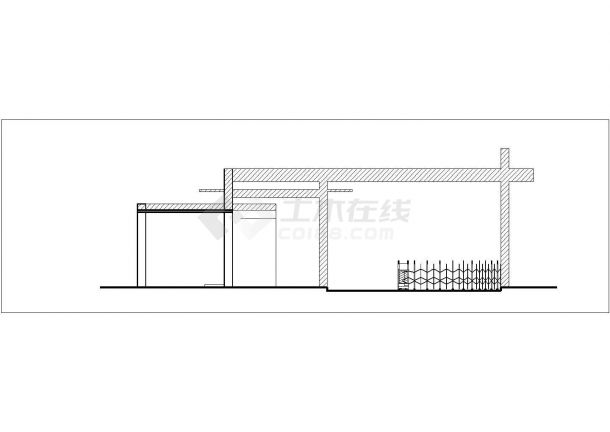 清镇市某实验小学 20平米单层砖混结构门卫室建筑设计CAD图纸-图二