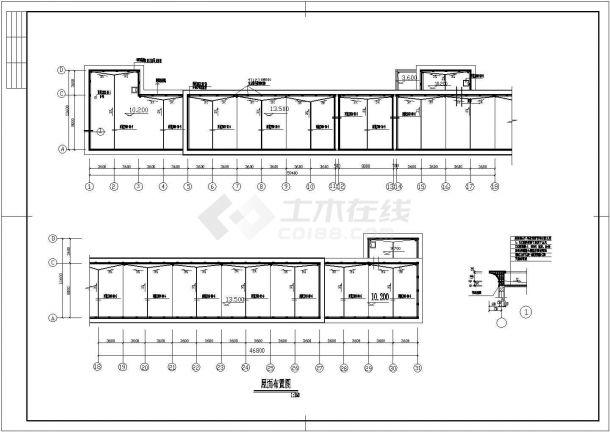 某活动中心广场CAD全套设计构造大样图纸-图二