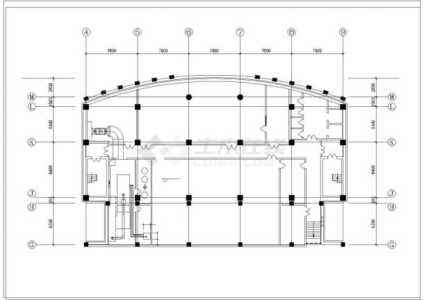 某住宅地下室中央空调全套设计施工cad图纸-图二