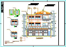 某少数民族风格CAD建筑设计图纸(水磨镇羌族建筑风格详细立面图例)-图二