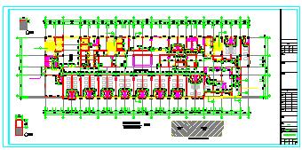 某十三层医院病房楼cad建筑施工图纸-图二