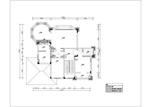 某三层别墅装修设计cad详细平面施工图(含水电设计)-图一
