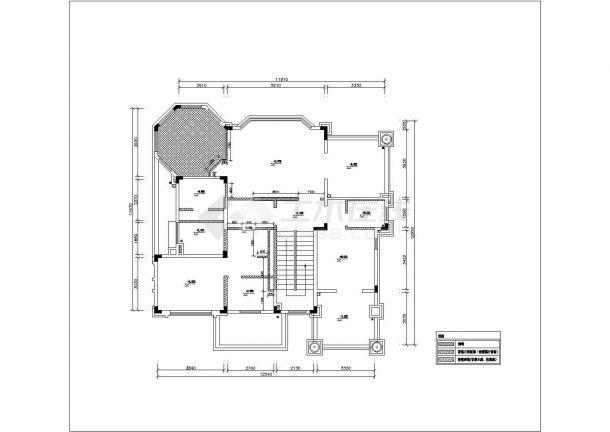 某三层别墅装修设计cad详细平面施工图(含水电设计)-图二
