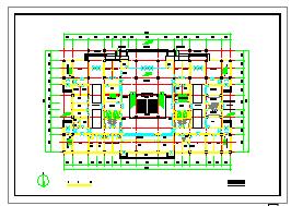 某市中型医院建筑方案cad设计图-图二