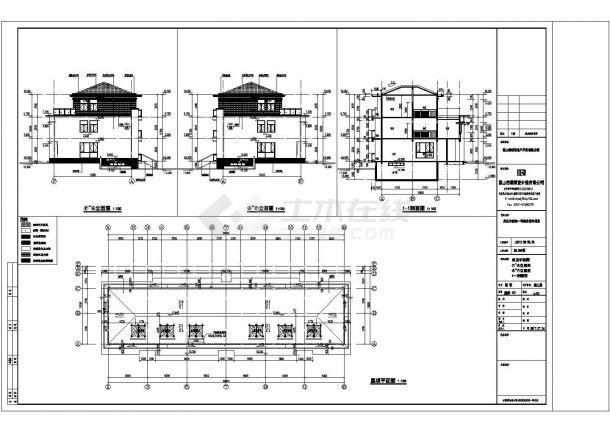 某地区别墅养老用房方案设计施工CAD图纸-图一