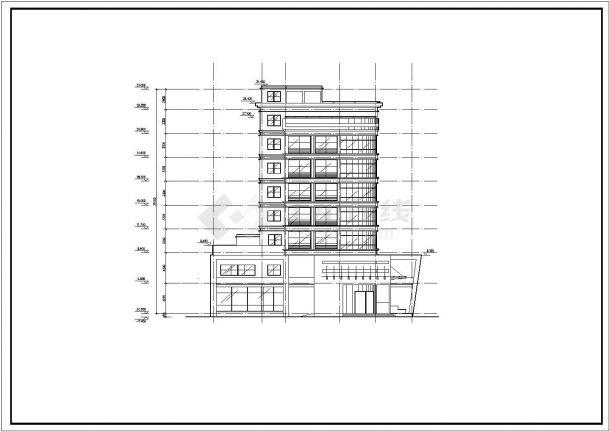 某地区综合性写字楼建筑方案设计施工CAD图纸-图二