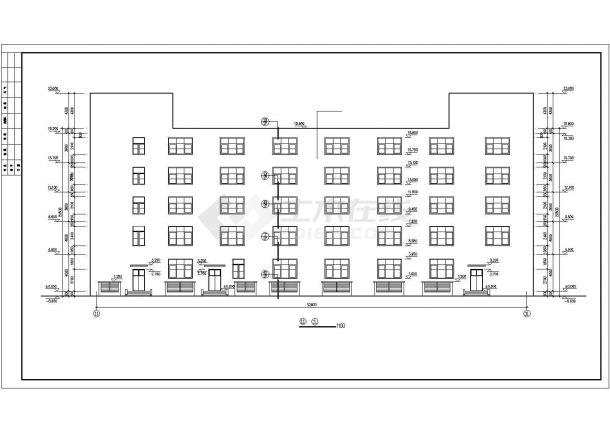某地区五层综合办公楼建筑方案设计施工CAD图纸-图一