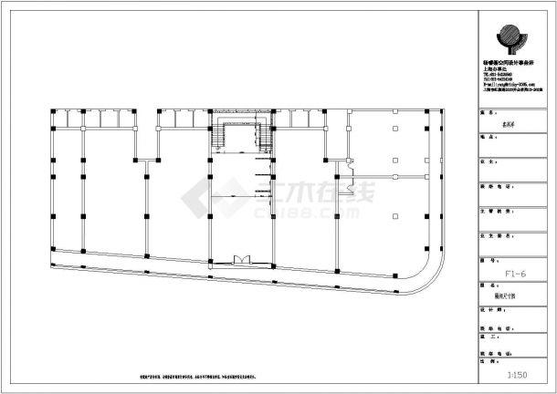 喜洋洋婚沙摄影店室内装修设计cad全套施工图-图二