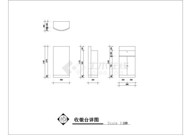 某20平方小型服装店室内装修设计cad详细施工图-图二