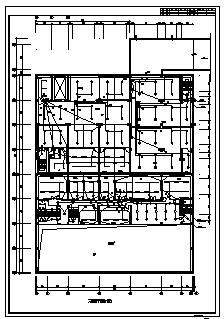 某地上二层带地下一层汽车贸易展示中心电气施工cad图(含电气,消防设计)-图一