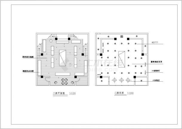 某24平方米小型服装专卖店装修设计cad施工图-图一