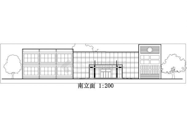 南京市城华路某3890平米2层框架结构中式餐厅全套建筑设计CAD图纸-图一