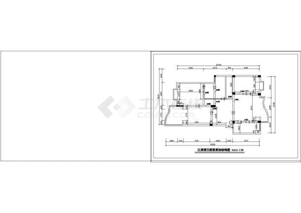 [江滨]大户型家居装修设计cad施工图-图一