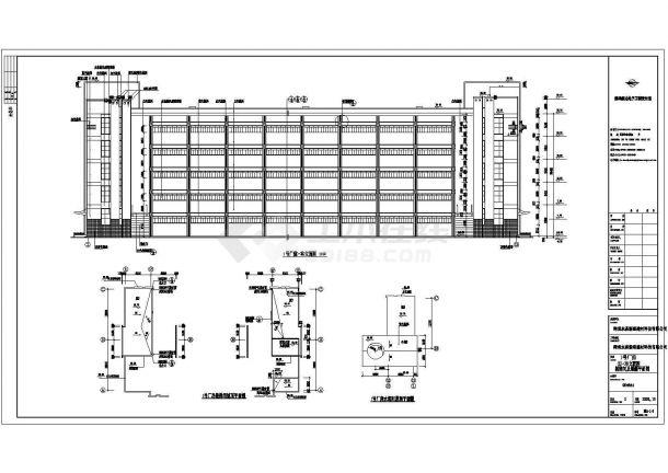 厂房设计_建筑厂房楼梯间CAD平面图-图一