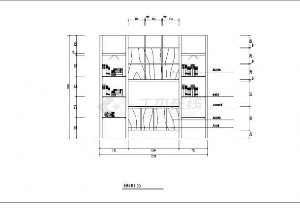 2套豪华别墅精装修设计建筑施工cad图纸-图二