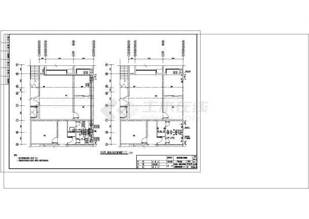 办公楼设计_带地下室高层办公楼给排水详细设计cad施工图-图二