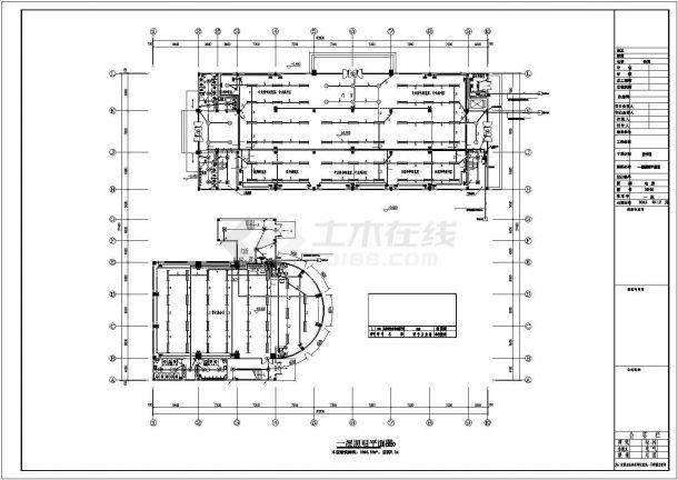 峨眉山市某职业学院5700平米4层框架结构图书馆电气系统设计CAD图纸-图一