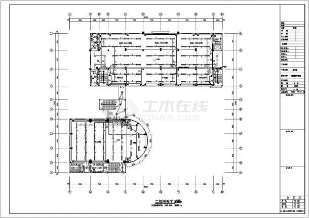 峨眉山市某职业学院5700平米4层框架结构图书馆电气系统设计CAD图纸-图二