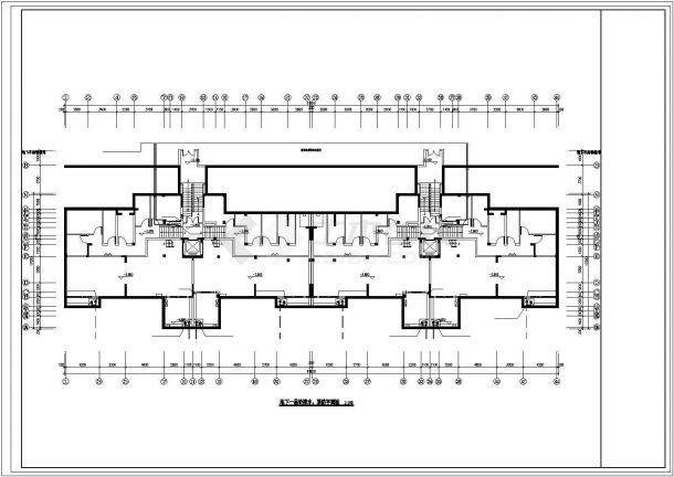 锦州市畅春园小区6+1层住宅楼内部全套给排水消防平面设计CAD图纸-图一