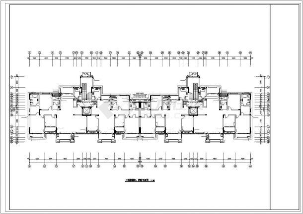 锦州市畅春园小区6+1层住宅楼内部全套给排水消防平面设计CAD图纸-图二