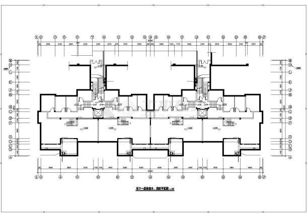 乌鲁木齐市兰香苑小区7层民居住宅楼给排水消防平面设计CAD图纸-图一