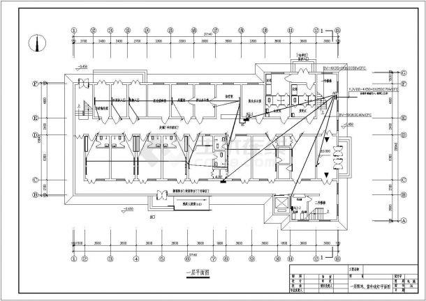 甘肃省某卫生院两层传染病房电气建筑工程设计施工图(含设计说明、配电系统图)-图一