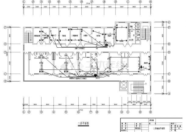 甘肃省某卫生院两层传染病房电气建筑工程设计施工图(含设计说明、配电系统图)-图二