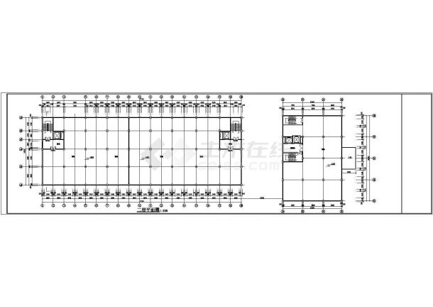 杭州金色港湾小区1.6万平米6层住宅楼给排水自喷平面设计CAD图纸-图一