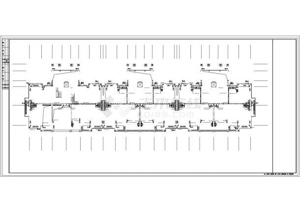 南京双鸿花园小区5730平6层砖混结构住宅楼给排水消平面设计CAD图纸-图一