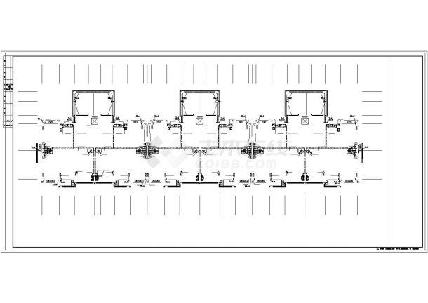 南京双鸿花园小区5730平6层砖混结构住宅楼给排水消平面设计CAD图纸-图二