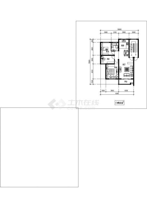 全屋定制某小区经典独户型平面【含效果图,设计说明】-图二