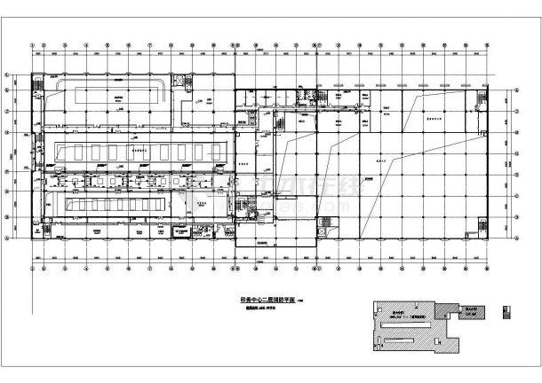 武汉市某造纸厂3.2万平米4层框架车间厂房给排水平面设计CAD图纸-图一